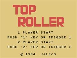 Title screen of Top Roller on the MSX.