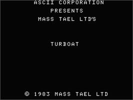 Title screen of Turboat on the MSX.