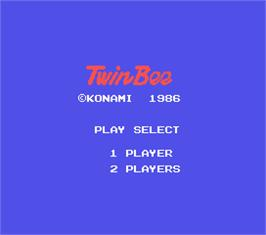 Title screen of TwinBee on the MSX.