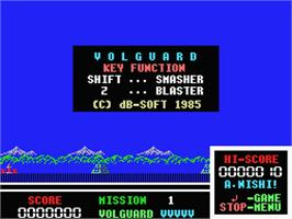 Title screen of Volguard on the MSX.