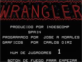Title screen of Wrangler on the MSX.