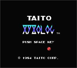 Title screen of Xyxolog on the MSX.
