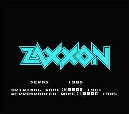 Title screen of Zaxxon on the MSX.