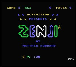 Title screen of Zenji on the MSX.