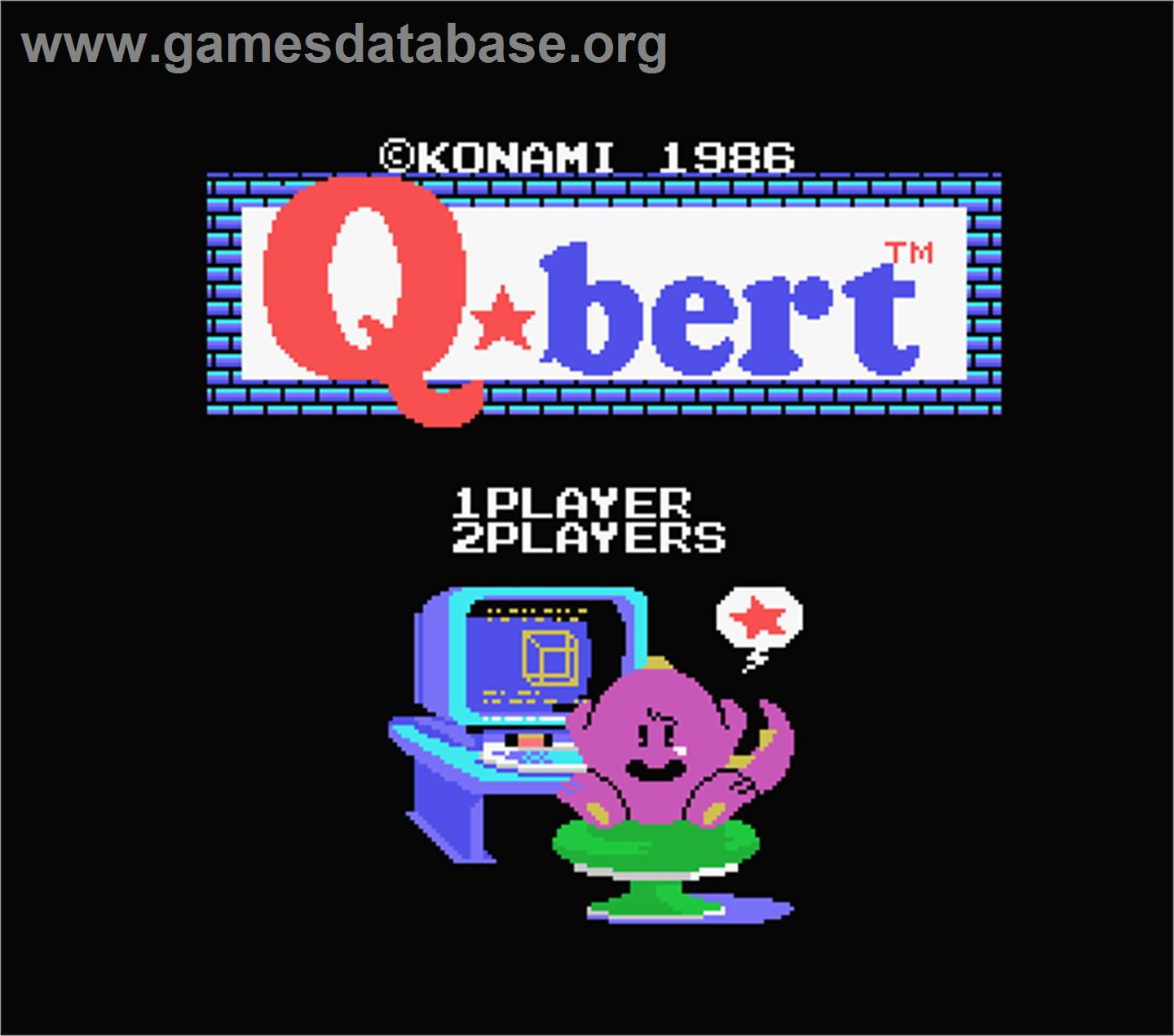 Q*bert - MSX - Artwork - Title Screen