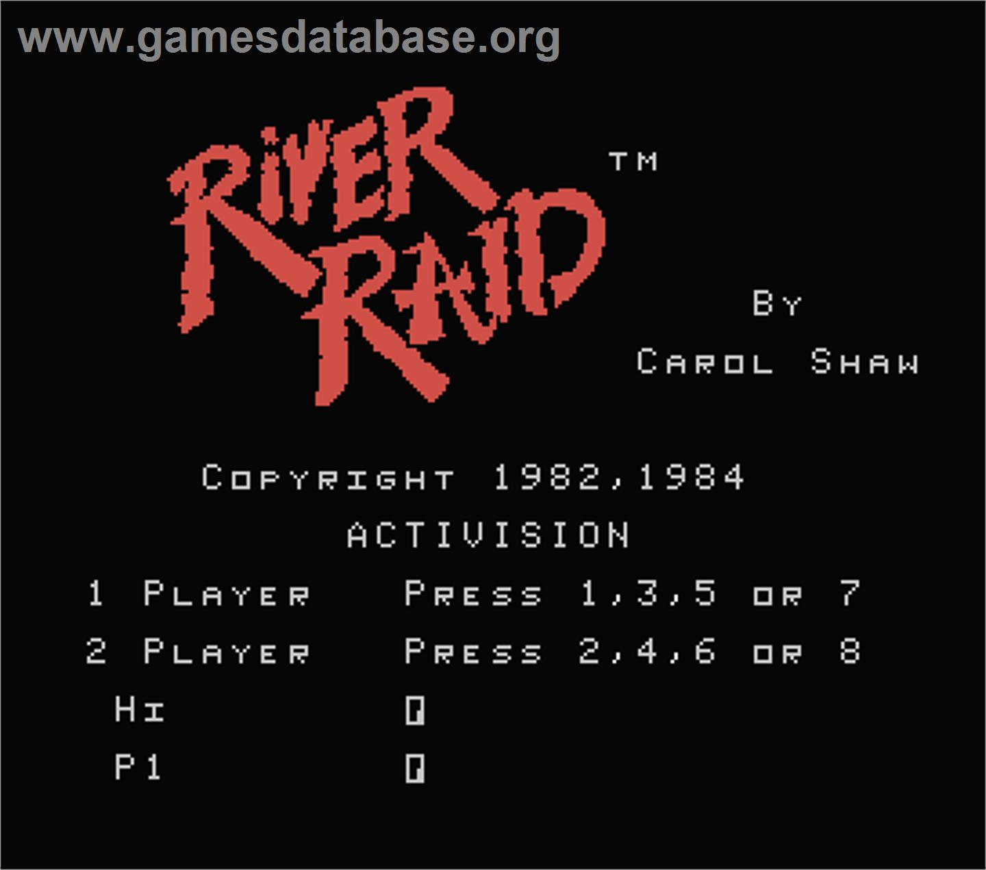 River Raid - MSX - Artwork - Title Screen