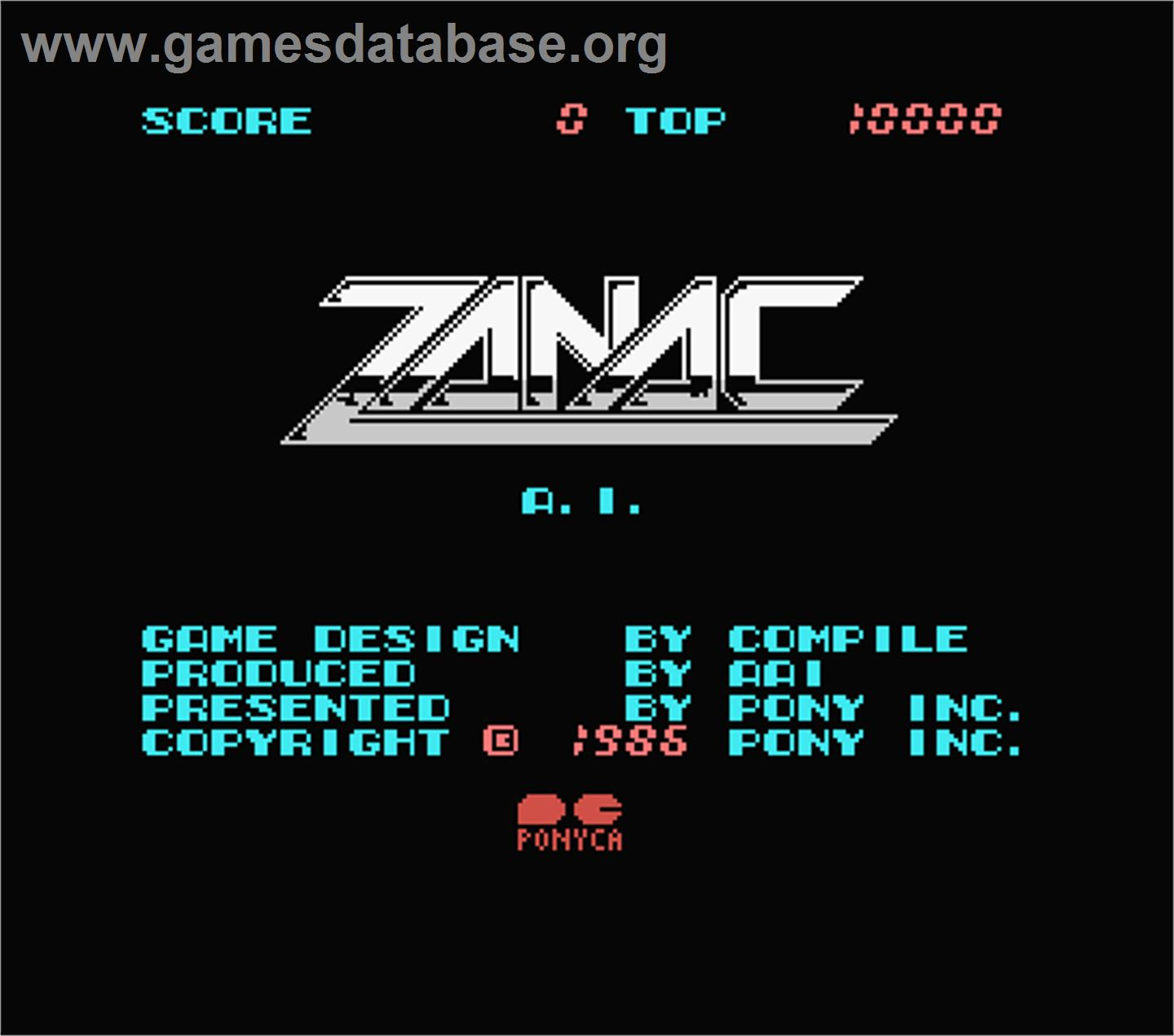 Zanac EX - MSX - Artwork - Title Screen