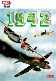 Box cover for 1942 on the MSX 2.