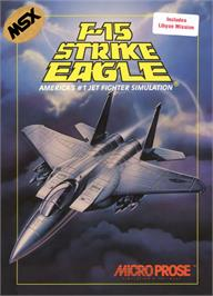 Box cover for F-15 Strike Eagle on the MSX 2.