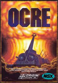 Box cover for Ogre on the MSX 2.