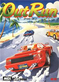 Box cover for Out Run on the MSX 2.