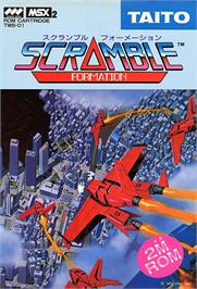 Box cover for Scramble Formation on the MSX 2.