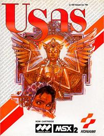 Box cover for Treasure of Usas on the MSX 2.