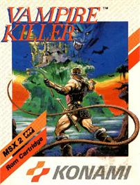 Box cover for Vampire Killer on the MSX 2.