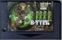 Cartridge artwork for R-Type on the MSX 2.