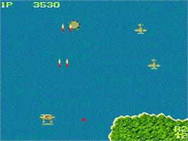 In game image of 1942 on the MSX 2.