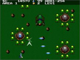 In game image of Aleste 2 on the MSX 2.