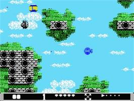 In game image of Barunba on the MSX 2.