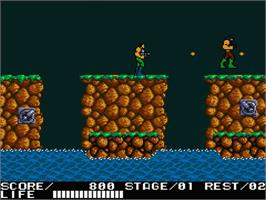 In game image of Contra on the MSX 2.