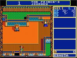 In game image of Dragon Slayer: The Legend of Heroes on the MSX 2.