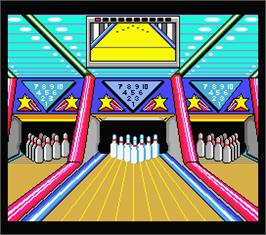 In game image of Dynamite Bowl on the MSX 2.