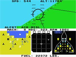 In game image of F-15 Strike Eagle on the MSX 2.