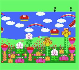 In game image of Fantasy Zone 2 on the MSX 2.