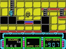 In game image of Future Knight on the MSX 2.