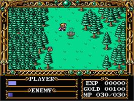 In game image of Gauntlet on the MSX 2.