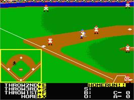 In game image of HardBall on the MSX 2.