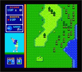 In game image of Hole in One Special on the MSX 2.