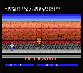 In game image of Lazy Jones on the MSX 2.