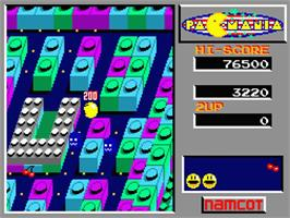 In game image of Pac-Mania on the MSX 2.