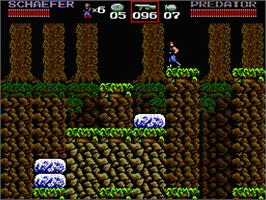 In game image of Predator: Soon the Hunt Will Begin on the MSX 2.