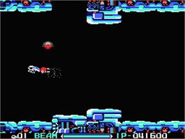 In game image of R-Type on the MSX 2.