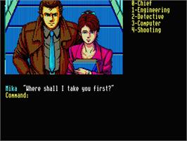 In game image of Snatcher on the MSX 2.