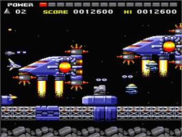 In game image of Space Invaders on the MSX 2.