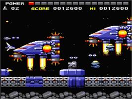 In game image of Space Manbow on the MSX 2.