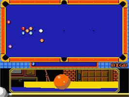 In game image of Super Billiards on the MSX 2.