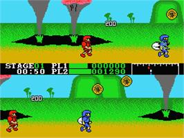 In game image of Super Cobra on the MSX 2.