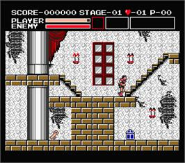 In game image of Vampire Killer on the MSX 2.