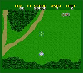 In game image of Xevious: Fardraut Saga on the MSX 2.