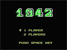 Title screen of 1942 on the MSX 2.