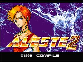 Title screen of Aleste 2 on the MSX 2.