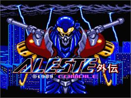 Title screen of Aleste Gaiden on the MSX 2.