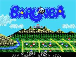 Title screen of Barunba on the MSX 2.