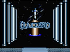 Title screen of Black Beard on the MSX 2.