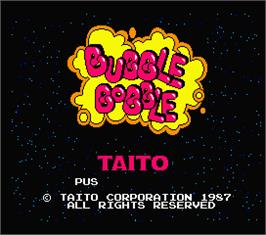 Title screen of Bubble Bobble on the MSX 2.