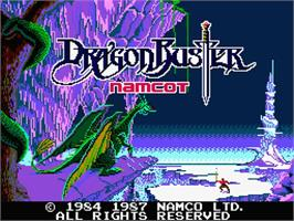 Title screen of Dragon Buster on the MSX 2.