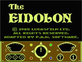 Title screen of Eidolon on the MSX 2.